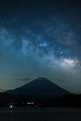 Milky Way Rising Over Mt Fuji (lestaylorphoto) Tags: travel japan night stars nikon fuji space astrophotography leslie taylor astronomy universe cosmic mtfuji milkyway d610  motosuko  lestaylorphoto