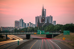 """9"" (Tom Hughes Photo) Tags: longexposure morning st skyline sunrise canon gm detroit renaissance rencen josaphat bw110"