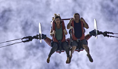 Free Fall (swong95765) Tags: guy face ride expression fear falling gal gravity surprise terror shock thrill slingshot sligshot