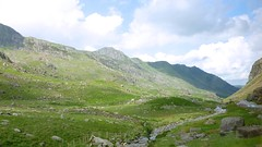 Snowdonia National Park (Bogger3.) Tags: wales rocks stream roadside sunnyday mountainrange fluffyclouds capelcurig coth snowdonianationpark panasonicdmcfs35