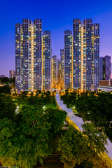 Ghim Moh Link (Chye Guan, Tan) Tags: building singapore cityscape architectural fujifilm bluehour hdb publichousing hdbscape singaporescape