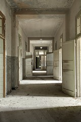 Lithium 1800mg (earthmagnified) Tags: hall hallway doors open architecture psychiatric hospital ward patient medical insane insanity lunatic mental illness abandoned abandonment ue urbex urban explorer exploring exploration decay vacant empty