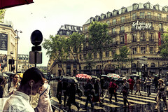 Here's that rainy day (sigmanow) Tags: street urban paris rain 35mm nikon lafayette galleries d750