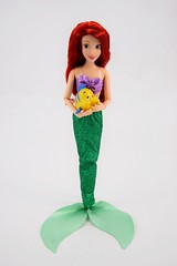 2016 Ariel Classic 12'' Doll - US Disney Store Purchase - Deboxed - Standing - Holding Flounder - Full Front View (drj1828) Tags: disneystore doll 12inch classicprincessdollcollection 2016 ariel purchase deboxed standing flounder