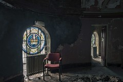 'The Throne'..... (Taken-By-Me) Tags: door uk red urban cinema news building abandoned window neglect dark chair nikon closed floor theatre decay empty seat exploring ruin eerie gone creepy adventure explore takenbyme forgotten vacant crown left derelict throne shut ue urbex d610
