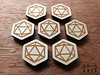 6by6Arts_d20magnets2 (thea superstarr) Tags: dungeonsanddragons icosahedron dnd d20 madeinusa lasercut laserengraved 6by6arts