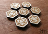 6by6Arts_d20magnets1 (thea superstarr) Tags: dungeonsanddragons icosahedron dnd d20 madeinusa lasercut laserengraved 6by6arts