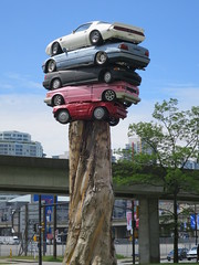 Trans Am Totem (D70) Tags: sculpture canada art cars public vancouver work one for is am artist bc marcus five top totem exhibition been have cedar stump april perched local another trans biennale stacked fullsize atop the 2015 biannual bowcott citys 176366 20foothigh