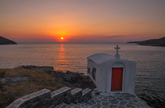 Sunset in Greece (Vagelis Pikoulas) Tags: sunset sea summer sun seascape church canon landscape view july tokina greece 6d 2016 2470mm kyklades