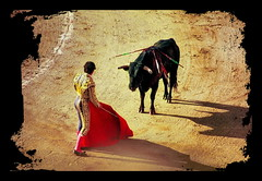 Tod am Nachmittag; Matador  El Cordobs (blacky_hs) Tags: barcelona death spain afternoon arena toros ernest hemingway tod corrida muleta spanien bulle monumental matador torero stier stierkampf nachmittag degen stierkmpfer el cordobs