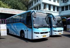MSRTC Shivneri Volvo B7R buses At Pune Station (gouravshinde94) Tags: msrtc shivneri volvo bus b7r pune mumbai