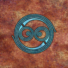 spiral (chrisinplymouth) Tags: abstract art geometric square spiral design artwork rust pattern image symbol geometry digitalart trumpet symmetry celtic curl coil whorl celticspiral spirality cw69x cw69sym