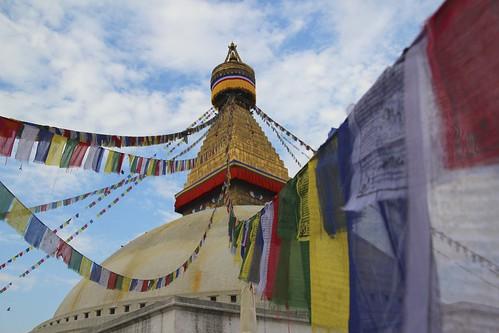 Prayer flag on Stûpa