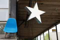 Blue chair white star (schoeband) Tags: blue white star schweiz switzerland chair suisse zurich zrich svizzera kreis5