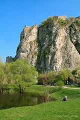 Under the Devin Castle Cliff, Nocrop (johan.pipet) Tags: cliff lake green castle nature rock canon devin relax spring fort sunny jar slovensko slovakia chateau schloss palo bratislava hrad zmek skala bartos jazero devn zmok bralo barto