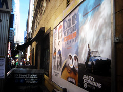 Fast and Furious 6 Billboard ADs 0098 (Brechtbug) Tags: new york city nyc 2 two urban 6 cinema cars me up car racecar work painting movie poster this drive smash paint theater driving all action crash working fast racing billboard advertisement chase blimp billboards worker roads gotham em six lead alert furious despicable 2013