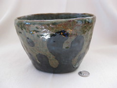 Splash bowl, pincer (mikkashar) Tags: ceramic waterdrop crafts bowl clay pottery coilbuilt darkstoneware madebymikkashar