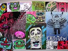 Invi (PSYCO ZRCS 10/12) Tags: street art graffiti sticker stickerart hand label stickers vinyl drawings cardboard marker labels usps drawn 228 invi 2013