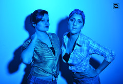 We're sexy in blue! (Daniel VC) Tags: up pin daniel burlesque valverde