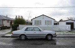 1983 Toyota Crown (stephen trinder) Tags: newzealand christchurch car silver landscape c nz toyota crown 1980s thecarsofchristchurch