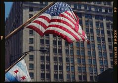 (Brooks was here) Tags: chicago film mediumformat flag mamiya645 kodakektar100