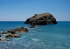 Stepping Stones (M.Y. Visual Arts) Tags: blue sea summer beach nature water beautiful landscape long greece crete preveli