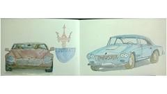 Past and present of the Great Maserati (utnapishtiy1) Tags: car russia moscow usk maserati urbansketchers originalfilter uploaded:by=flickrmobile flickriosapp:filter=original