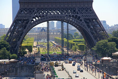 Look at all of the People (bobbiklein) Tags: city people paris france tower monument canon eos day eifel busy