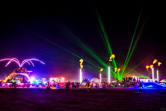 Party Time (Mike Orso) Tags: party art festival fire photography desert nevada picture burningman blackrockcity burn pyro artcar mutantvehicle 2013 mikeorso vision:night=096