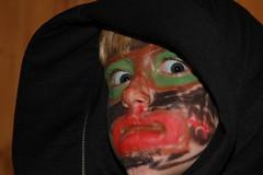 halloween is near... (jomaot) Tags: portrait halloween kid eyes child mask creepy kind augen maske gruselig schminke 2013 jomaot