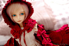 Modern Red Riding Hood (Mia ^o^) Tags: red art sd riding poppy hood bjd luts delf sd10 lupinus sd9 lishe sd13