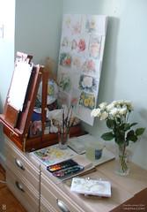 Vertical Painting Setup 2 (KAI   ZAN57) Tags: watercolor studio artsupplies sketchkit