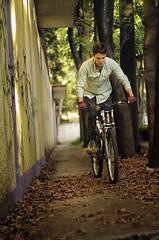 Testing the Helios 44m-4 58mm f/2, it's a selfshot with my bike... (Bruno Doinel) Tags: autumn bike daylight pentax riding selfshot k30
