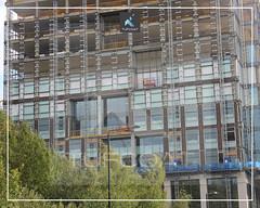 Tufcoat shrink wrap encapsulation of reinforced concrete formwork St Pancras Square Project