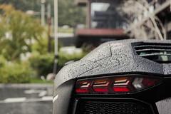 Lamborghini Aventador (Lambo8) Tags: italy black france detail annecy cars car rain canon photography eos italia noir day details voiture mat rai