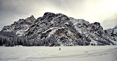 solo (Claudia Gaiotto) Tags: winter snow mountains silence uno solo braies altoadige sudtirolo