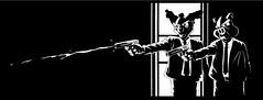 Pigfiction ;) (KromOner) Tags: fiction blackandwhite pig sketch clown style urbanart characters kromoner