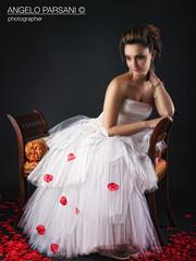 Laura (Angelo Parsani) Tags: wedding laura sexy love fashion model glamour moda boudoir donne rosso ritratto sposa toulle abitobianco salaposa