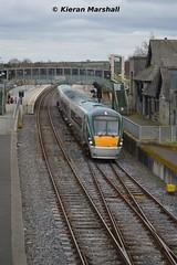 22056 departs Portarlington, 5/3/14 (hurricanemk1c) Tags: irish train rail railway trains railways irishrail rok rotem 2014 portarlington icr iarnród 22000 22056 éireann iarnródéireann 3pce 1415heustonportlaoise