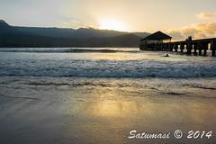 Kauai Trip-DSC_0135_0049.jpg (Satumasi) Tags: winter sunset vacation usa hawaii pier unitedstates shoreline kauai northamerica hi hanalei princeville hanaleibay nikon1aw1 1nikkoraw10mmf28
