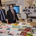 Coscia y Hamawi en la inauguración del Salón del Libro de París 2014