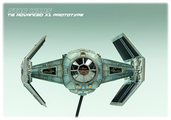Darth Vader's X1 TIE Prototype (Andy R Moore) Tags: canon starwars model kit darthvader 172 tiefighter finemolds eos650d