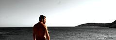 grigio (pinhole_85) Tags: sea summer man island grey mare grigio estate horizon dive calm uomo nostalgia stare nostalgic diver gaze isola sereno orizonte