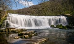 2014-04-15 Monsal-2973.jpg (Elf Call) Tags: water waterfall moss nikon derbyshire sheffield yorkshire filter weir density 18105 neutral monsal nd8 d5300
