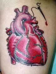 A Human Heart Tattoo Design 122 (tattoos_addict) Tags: tattoo design heart human 122 hert skulltattoos tttoo humn hearttattoos keytattoos