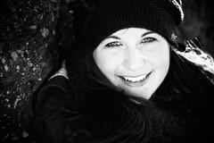 Sonja (Erica Gilbertson) Tags: portrait blackandwhite bw cute beautiful smile smiling laughing outside happy eyes friend wind sweden sony teeth windy swedish laugh brunette sonja varberg halland nocolor alpha700 sonya700 sonyalpha700