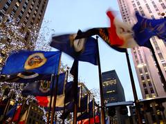(Shane Henderson) Tags: christmas nyc newyorkcity newyork building architecture buildings lights unitedstates manhattan rockefellercenter flags rockefellerplaza gebuilding midtownmanhattan stateflags mcgrawhill exxonbuilding 1251avenueoftheamericas 1rockefellerplaza