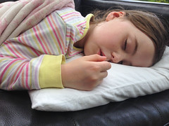 10th May - Poor poppet (Bond Girly) Tags: kitchen girl amy sleep pillow sofa ill pjs sick poppet poorly