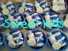 kit Charmoso Azul (Lembrancinhas Personalizadas) Tags: blue lembrana toalha sabonete sweetkids lembrancinha cachepo kitbanho kitcharmoso