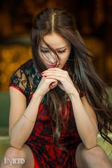 DSC02479 (inkid) Tags: light portrait love girl asian model women natural minolta sony chinese 100mm ambient f2 dslr cheongsam rinny a900